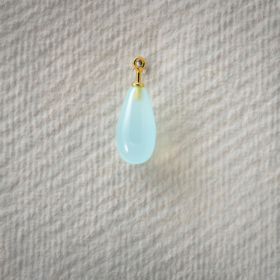 Chalcedon aquablau Pampel 15x8mm