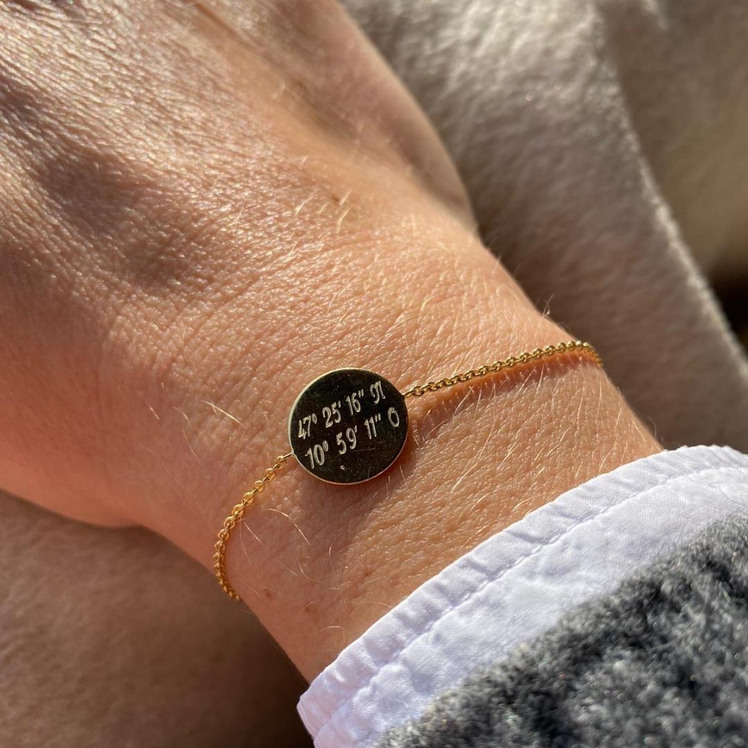 Armband mit Gravurplatte 13mm